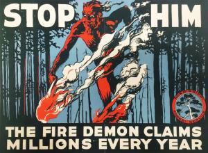 1926 poster from the Mississippi Forest Services, provided by the Forest History Society on Twitter.
