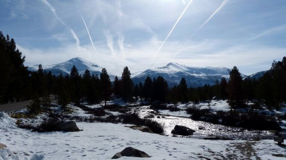 Sierra crest from Tioga Pass