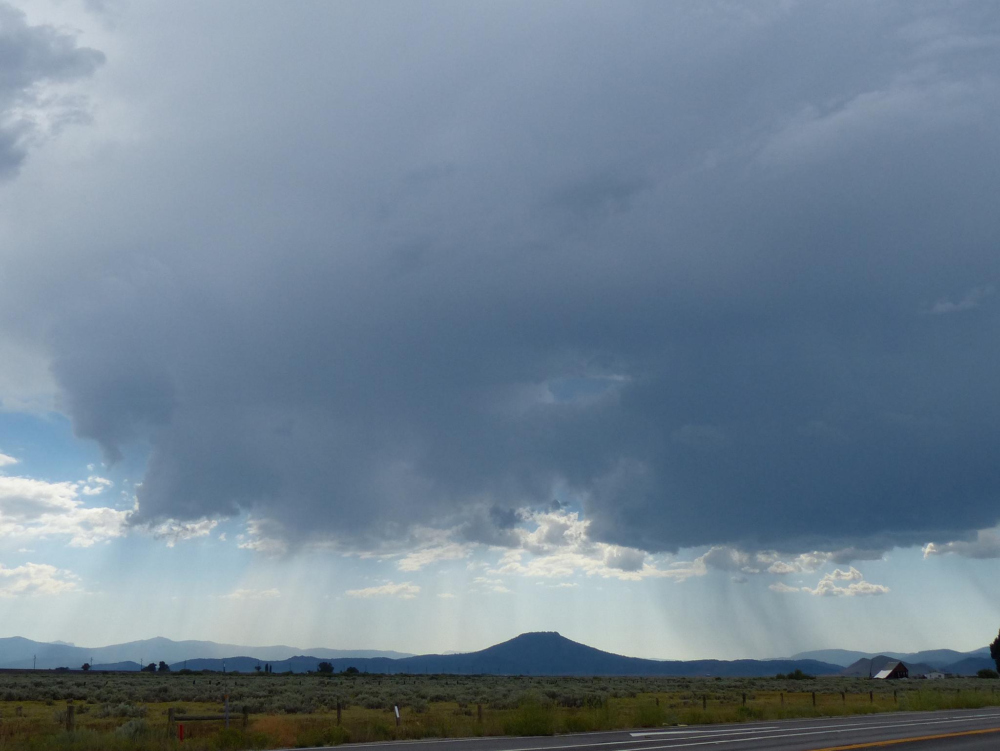 Storm over Portola, CA