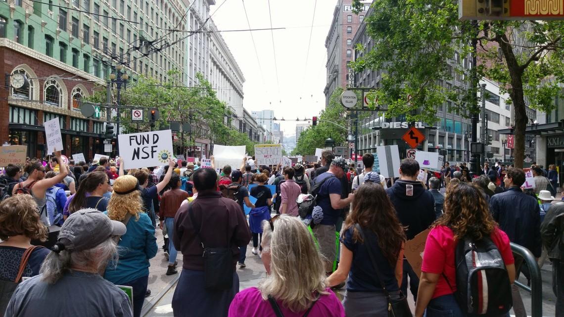 Marching on Market Street